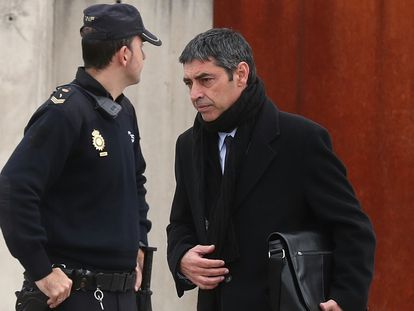 Josep Lluís Trapero, a su llegada a la Audiencia Nacional, en enero pasado.