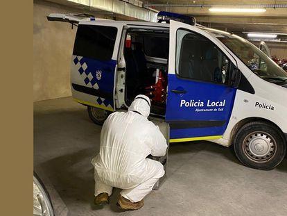 La policía local de Salt, en una imagen de archivo.