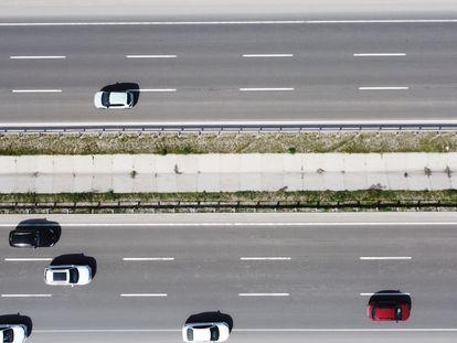 Vista de dron de una carretera de Turquía, el 29 de abril.