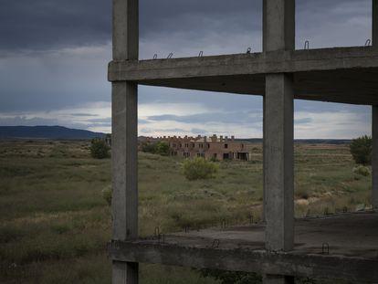 Una urbanización abandonada en San Mateo de Gállego (Zaragoza), en 2018.