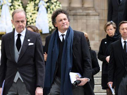 Jean d'Orléans, el conde de París, a la salida del funeral del gran duque Juan de Luxemburgo, en 2019.