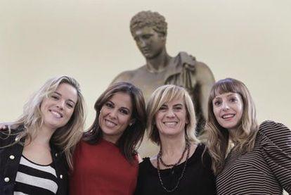 De izquierda a derecha, Cristina Lasvignes, Mara Torres, Gemma Nierga y Macarena Berlín.