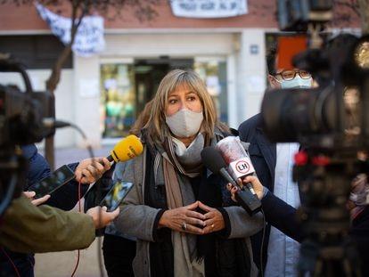 Núria Marín Martínez, durante su intervención en un acto del PSC en octubre.