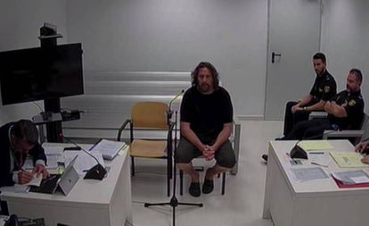 Xavier Buigas, one of the detained cdr, during his statement at the National Court in 2019.