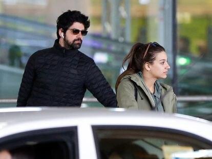 El actor Miguel Ángel Muñoz y la cantante Ana Guerra en Madrid en marzo de 2019.