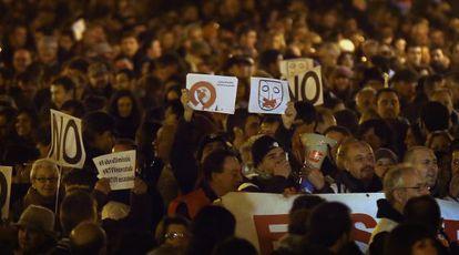 Participantes en la manifestación de Valencia.