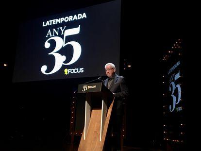 Daniel Martínez, presidente de Focus, durante la presentación de la temporada y el aniversario de la empresa, el viernes.