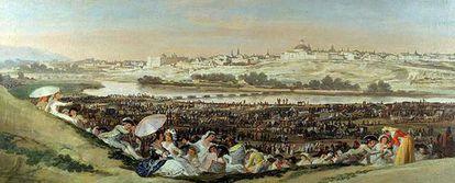 Francisco de Goya pintó <i>La pradera de San Isidro</i> desde la zona contigua a la ermita del patrón de Madrid.