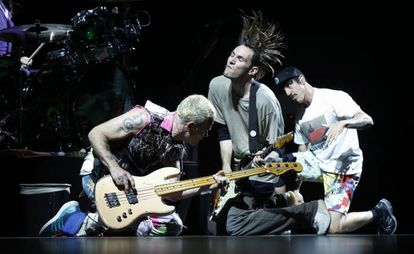 Red Hot Chili Peppers, en su concierto de septiembre en Madrid.