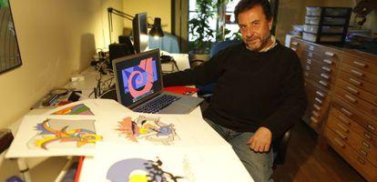 El diseñador gráfico y cantaor José Giménez del Pueblo