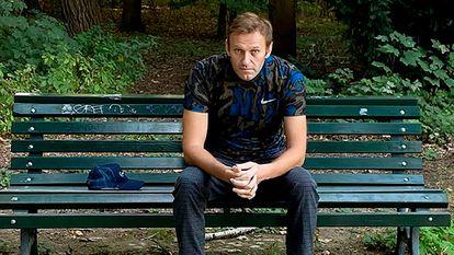 El opositor ruso Alexéi Navalni en Berlín, el 23 de septiembre.