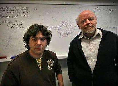 José Sánchez Dehesa (derecha) y Daniel Torrent.