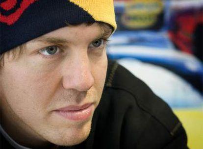 Sebastian Vettel, durante los últimos entrenamientos de fórmula 1 en Montmeló.