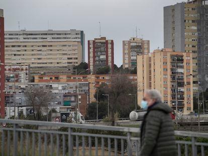 Ciutat Meridiana, en el distrito de Nou Barris de Barcelona, el barrio donde el PSC ha ganado con más apoyo en las elecciones al Parlament.