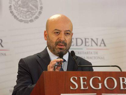 El titular de la Comisión Nacional de Seguridad (CNS), Renato Sales, durante una rueda de prensa en Ciudad de México (México).