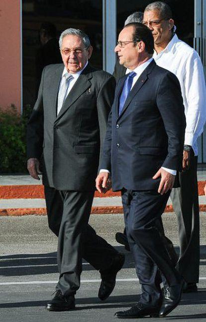 Raul Castro y François Hollande, en mayo en La Habana.