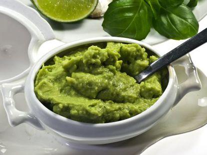 Plato de guacamole