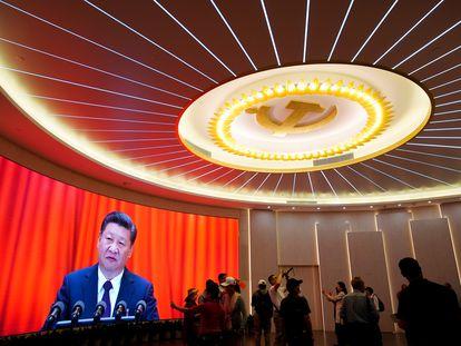 El presidente chino, Xi Jinping, en la conmemoración del centenario de la fundación del Partido Comunista de China, el pasado junio.