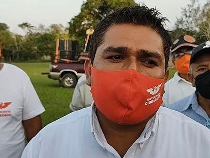 René Tovar, candidato de Movimiento Ciudadano a la presidencia municipal de Cazones, Veracruz.