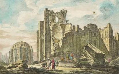 Destrucción de la catedral en 1755.