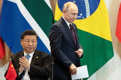 Xi Jinping, junto a Putin este jueves en Brasilia.