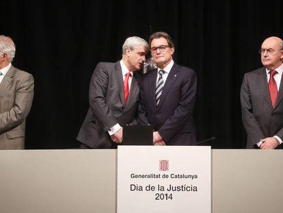 Gordó con el expresident Artur Mas, en diciembre de 2014.
