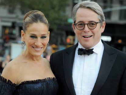 El matrimonio de actores Sarah Jessica Parker y Matthew Broderick en Nueva York el pasado septiembre.