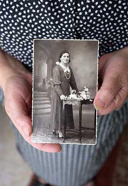 Foto de Lela Romero, esposa de un preso republicano.
