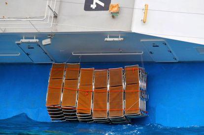 El naufragio del Costa Concordia.
