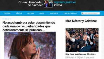 Cristina Kirchner se defendió desde su página web.