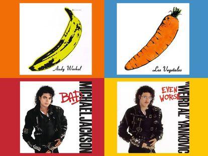 Dos de los ejemplos más claros: las copias de las portadas de 'Bad', de Michael Jackson, y de 'The Velvet Underground & Nico', por parte del estadounidense 'Weird Al' Yankovic y de los madrileños Los Vegetales.