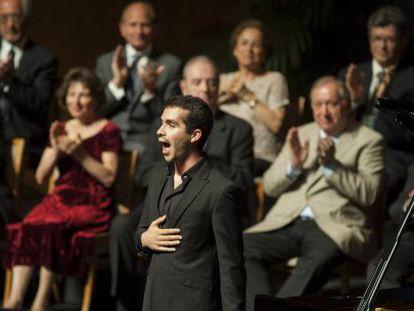 El sevillano Juan Pérez Floristán,ganador del Concurso Internacional de Piano de Santander Paloma O'Shea.