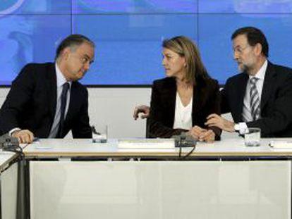 Rajoy, Cospedal y Arenas, en la reunión con presidentes Autonomicos