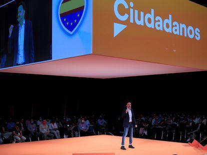 El vicesecretario general de Ciudadanos, Edmundo Bal, durante su intervención este sábado en la inauguración de la primera convención política de la formación.