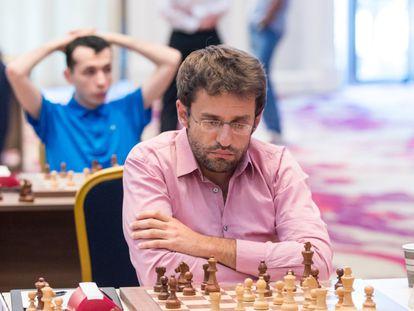 Levón Aronián, durante la tercera ronda de la Copa del Mundo