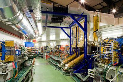 Gran máquina que alberga el edificio del sincrotrón Alba