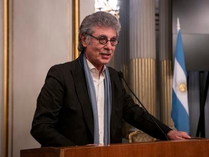 Hugo Sigman, durante una ceremonia en Buenos Aires, en 2017.