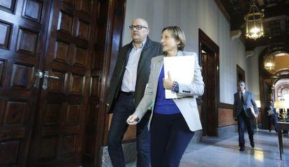 Carme Forcadell en el Parlamento de Cataluña este martes.