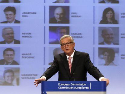 Juncker, durante la presentación de la lista de comisarios, el miércoles en Bruselas
