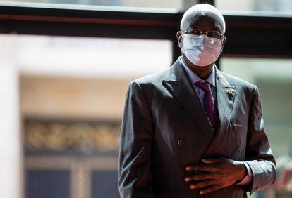 Bah Ndaw, presidente transitorio de Malí, en los Campos Elíseos de París, el pasado 18 de mayo.