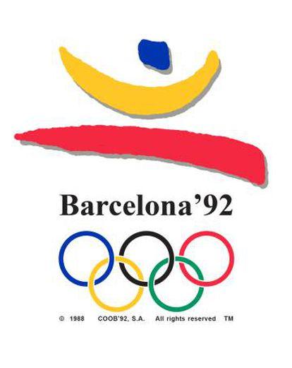 Logotipo ganador de las olimpiadas de Barcelona 1992, obra Trias.