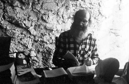 Alexandre Grothendieck, fotografiado en 1979, en Les Aumettes (Mormoiron).
