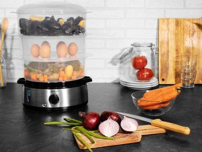 Verduras, arroces, pescados o carnes pueden prepararse de forma rápida y sencilla al vapor.