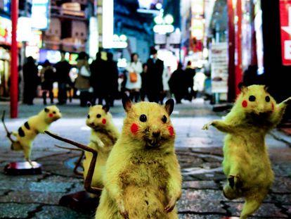 Imagen de la obra 'Super Rat', del colectivo Chim Pom.