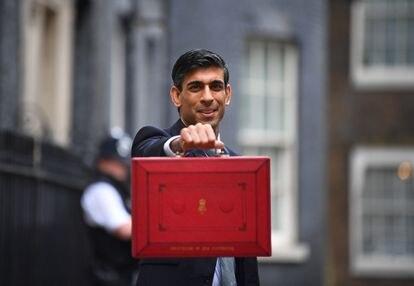 El ministro de Economia británico, Rishi Sunak, en Londres