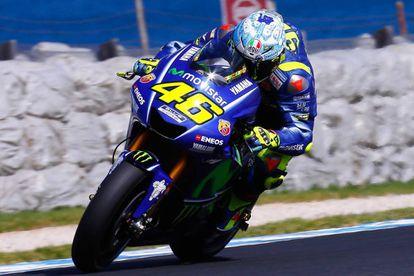 Valentino Rossi, en los entrenamientos de Phillip Island.