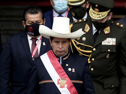 El presidente de Perú, Pedro Castillo, en su toma de posesión el 28 de julio pasado.