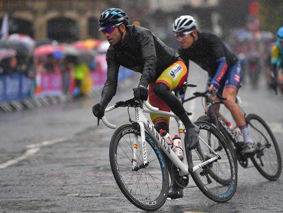 Alejandro Valverde, durante la carrera.