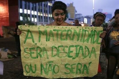 Imagen de archivo de una manifestación a favor del aborto en São Paulo, en septiembre de 2018.
