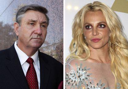 Jamie Spears, el padre de la cantante, a la izquierda, y Britney Spears a la derecha.